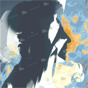 album artwork with profile of a man