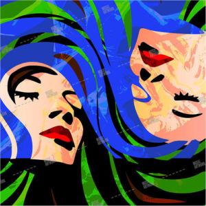 album art with twin girls
