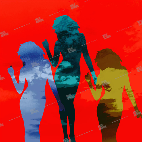 album art with three girls