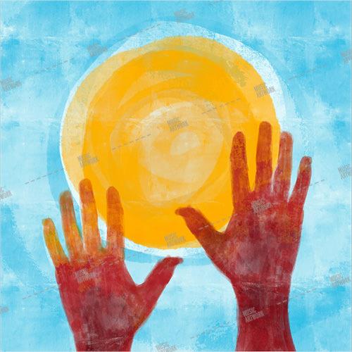 hands towards the sun