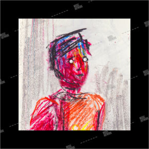 album art with painting of a boy