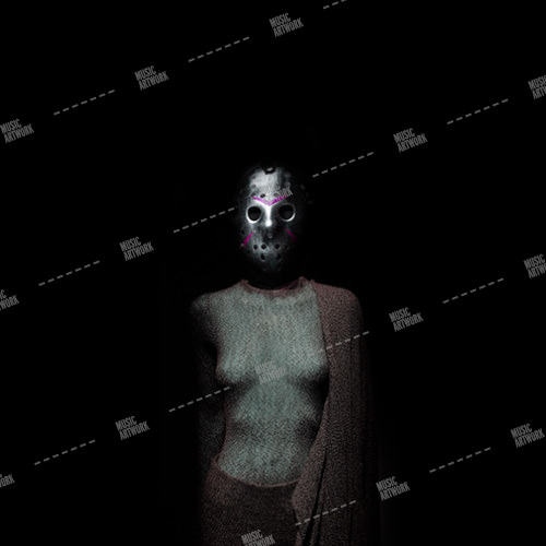 dark image showing girl with iron mask