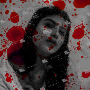 girl and blood