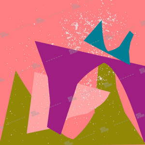 shapes on pink background