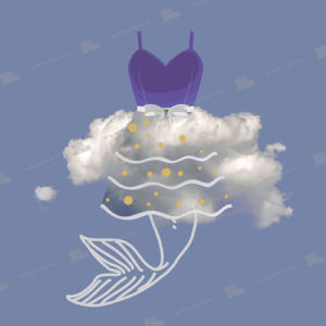 cloud dress and fish tale