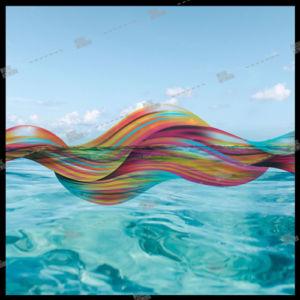sea and colour stripes