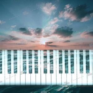 piano, sky and sea