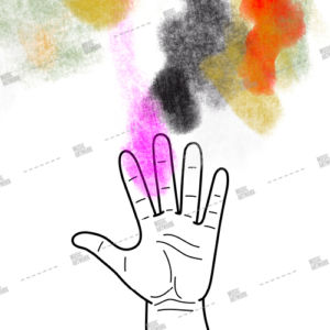 hand and paint