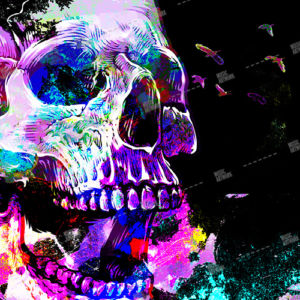 skull and colors